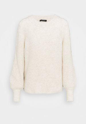 NEW O NECK - Jumper - sandshell/melange