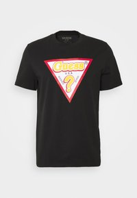 Guess - STICKY - Print T-shirt - jet black - 4