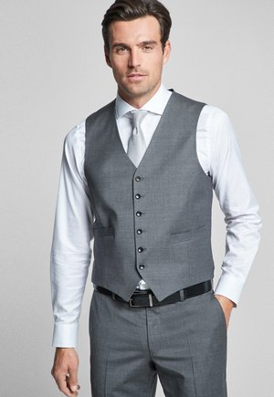 Suit waistcoat - mittelgrau-silber