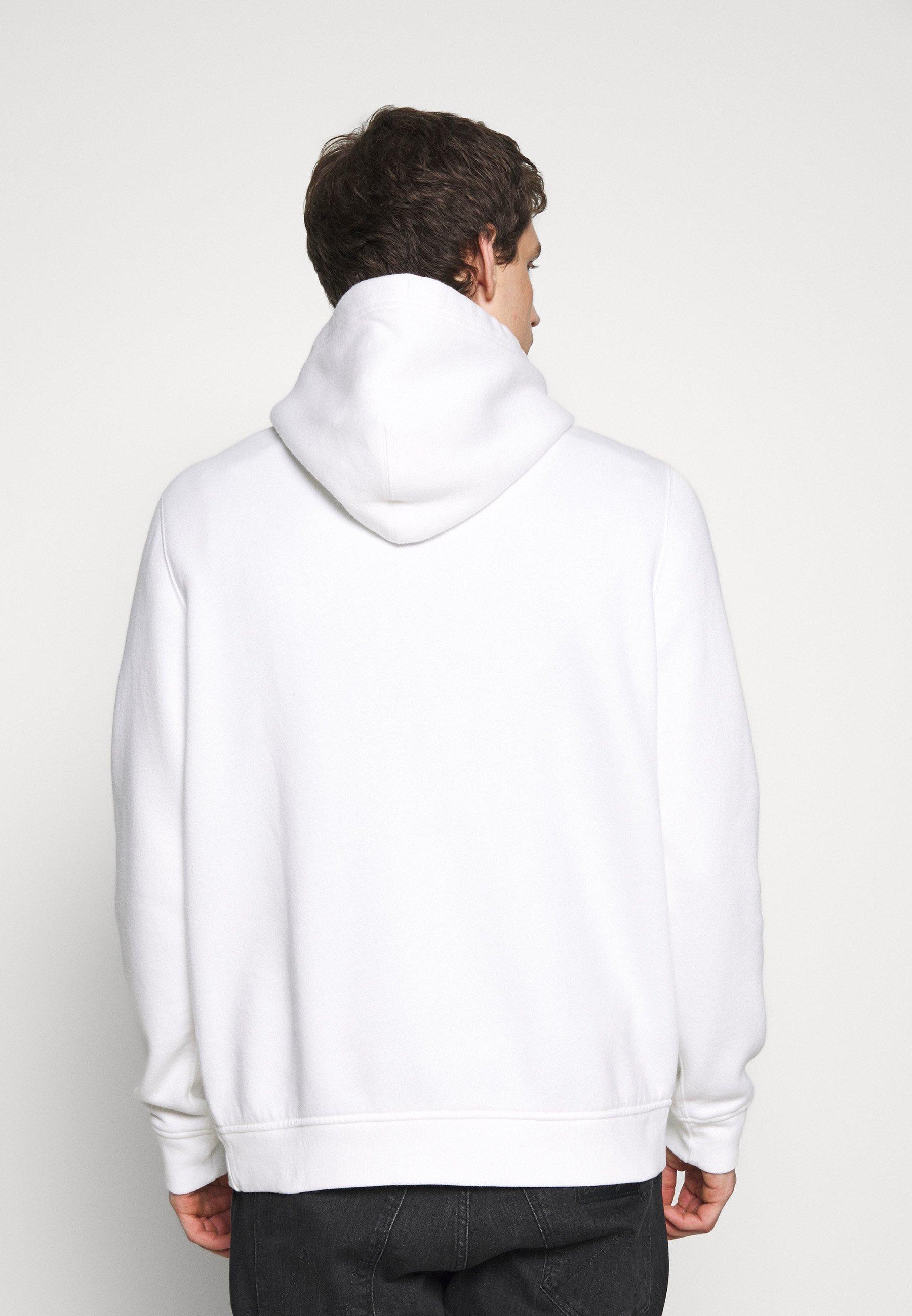 Abercrombie & Fitch ICON POPOVER - Sweat à capuche - white