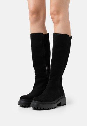 VEGAN LAILA - Platform boots - black