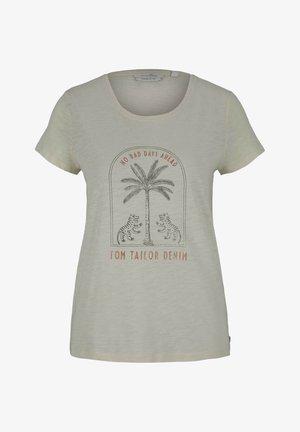 T-shirts print - soft creme beige