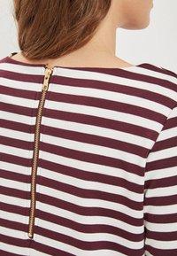 Vila - VITINNY - Day dress - burgundy, white - 3