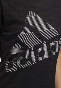 adidas Performance - BADGE OF SPORT T-SHIRT - Print T-shirt - black - 5