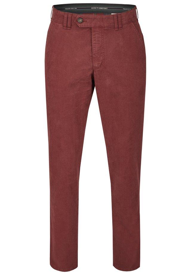 DENVER IM GERADEN SCHNITT - Trousers - bordeux