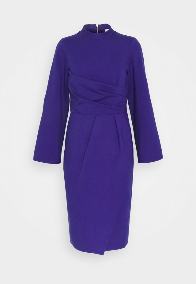COLLARED DRESS - Robe en jersey - purple
