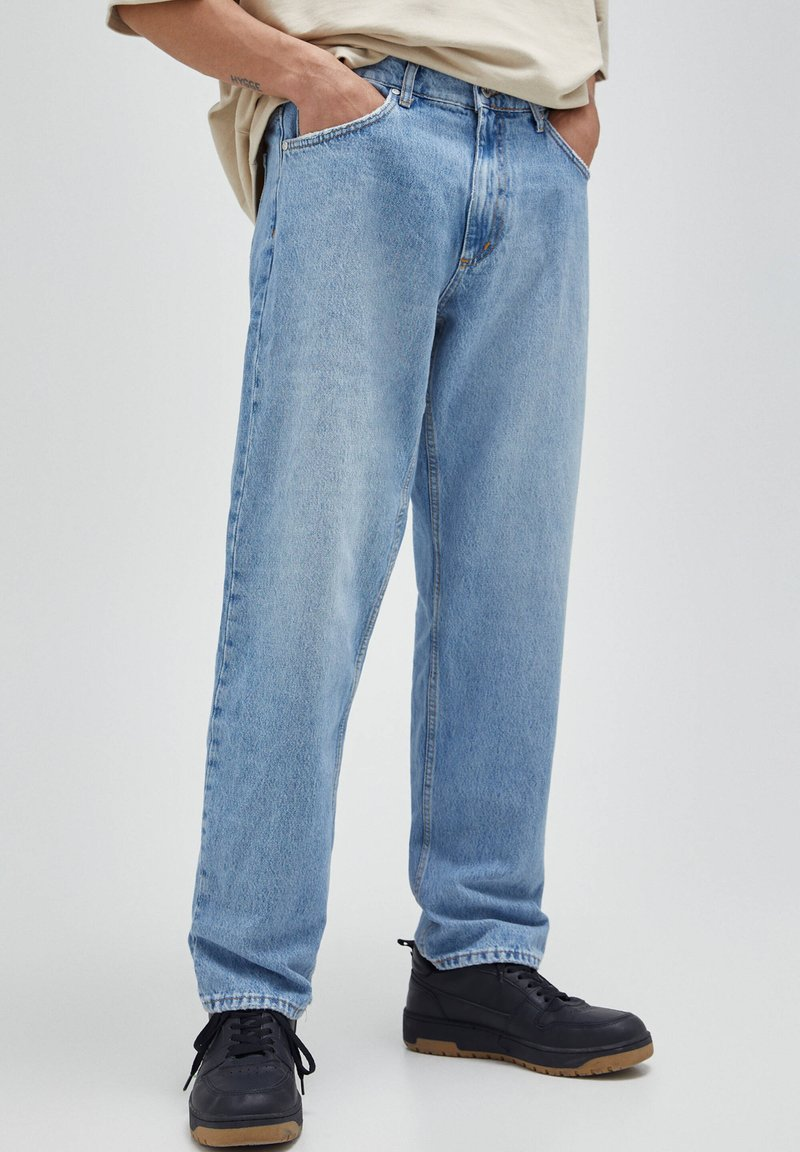 PULL&BEAR - Jeansy Relaxed Fit - blue-grey