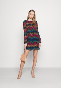 Never Fully Dressed - LEOPARD PLEATED MINI - Day dress - multi - 1