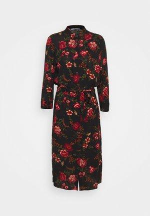 ONLNOVA LONG SHIRT DRESS - Shirt dress - black
