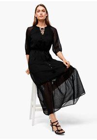 s.Oliver BLACK LABEL - CHIFFONKLEID MIT TRANSPARENZ-EFFEKT - Maxi dress - black - 3