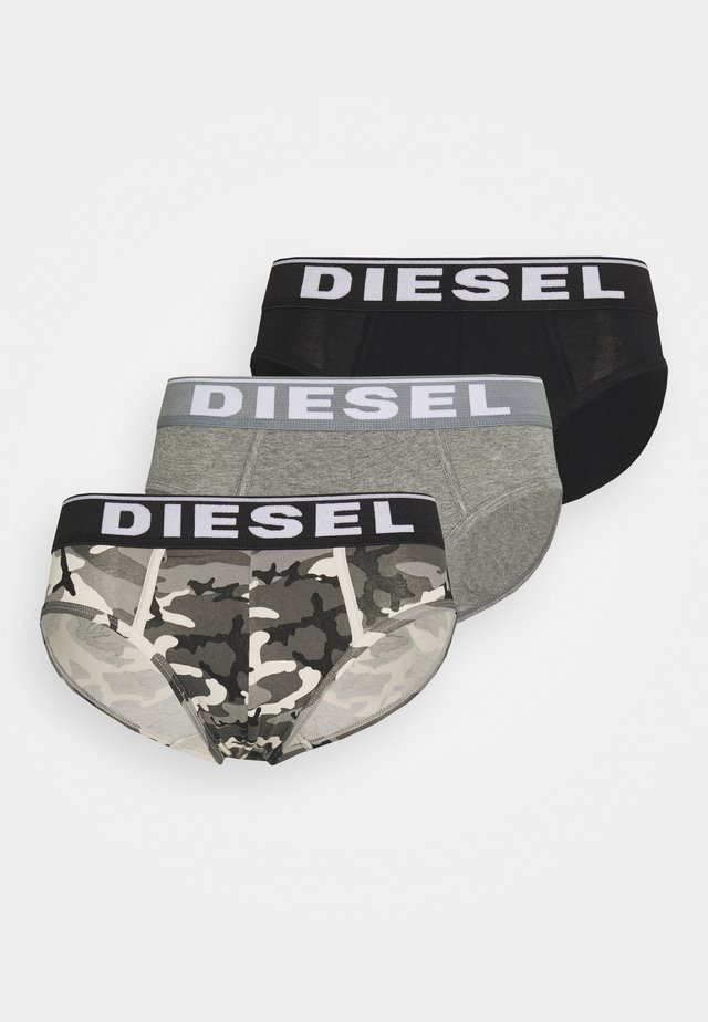 ANDRE 3 PACK - Briefs - grey/grey/black