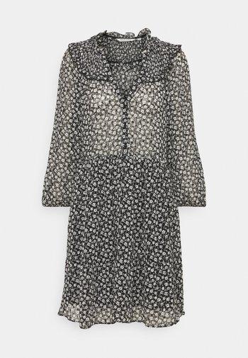 LAPASTILLETTE  - Kjole - noir/blanc motif