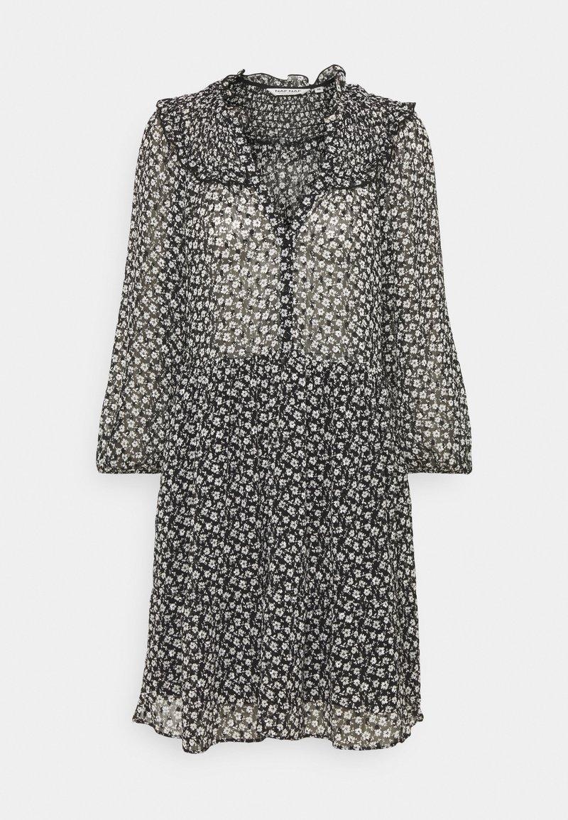 NAF NAF - LAPASTILLETTE  - Kjole - noir/blanc motif