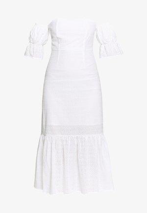 TEXTURED MINI DRESS - Freizeitkleid - whiite