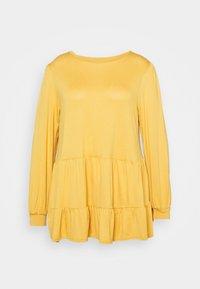 New Look Curves - TIER PEPLUM - Long sleeved top - dark yellow - 5