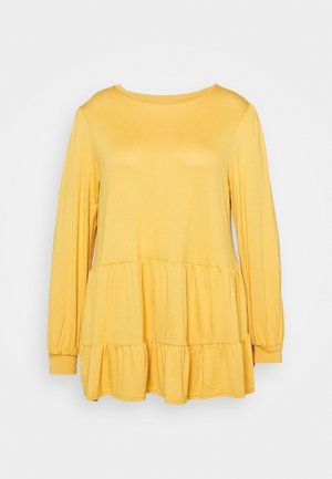 TIER PEPLUM - Long sleeved top - dark yellow