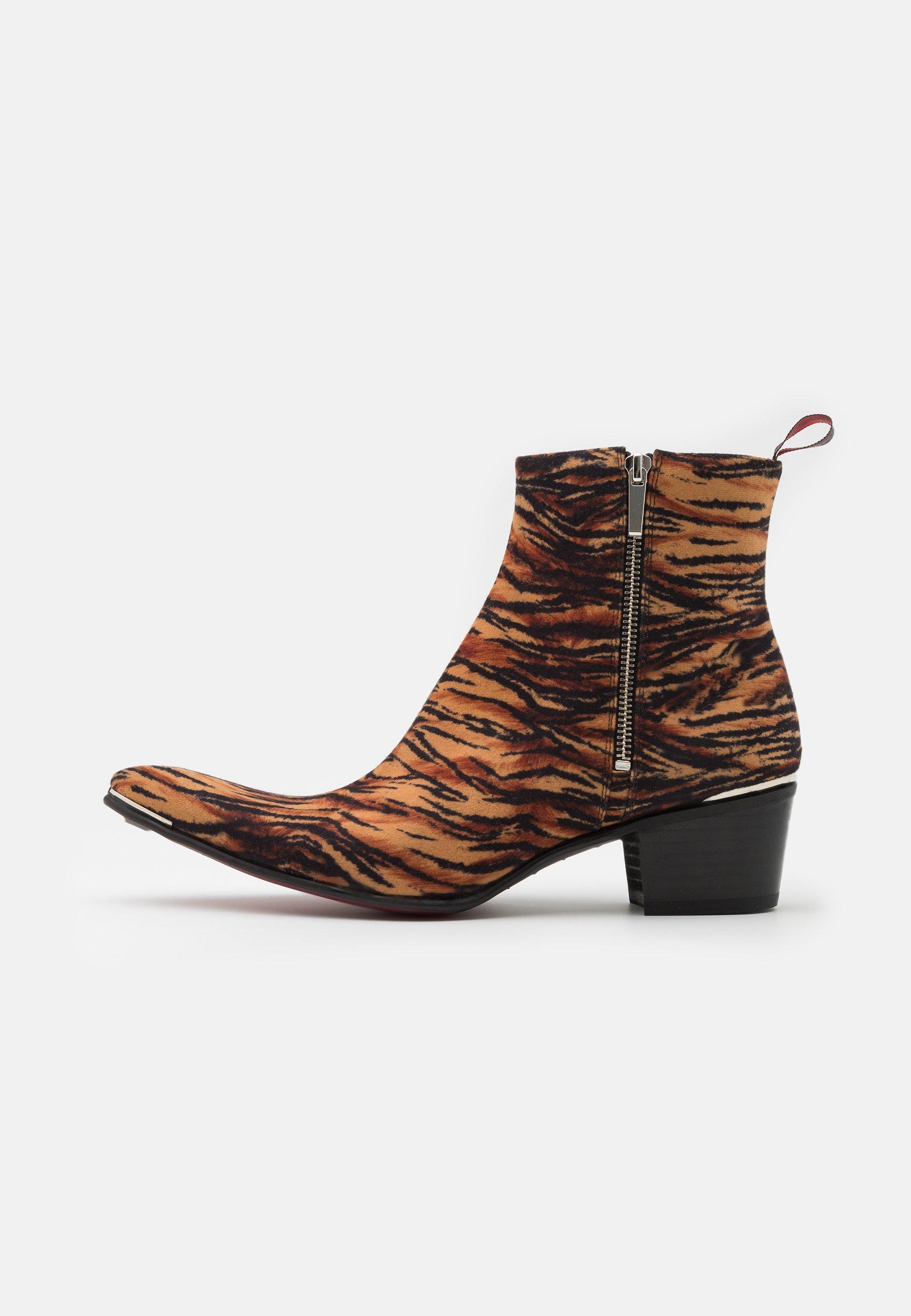 Men VEGAN SYLVIAN DOUBLE ZIP UNISEX - Cowboy/biker ankle boot - yellow