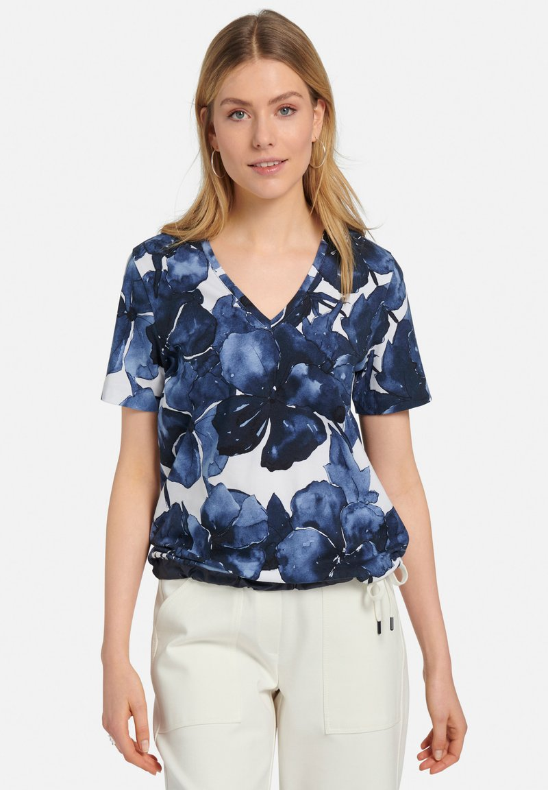 MARGITTES - Print T-shirt - blue