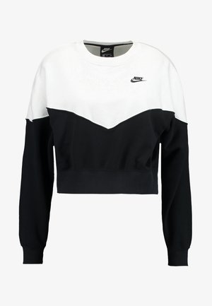 W NSW HRTG CREW FLC - Sweater - black/white/black