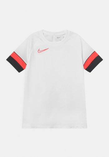 ACADEMY UNISEX - Print T-shirt - white/black/bright crimson