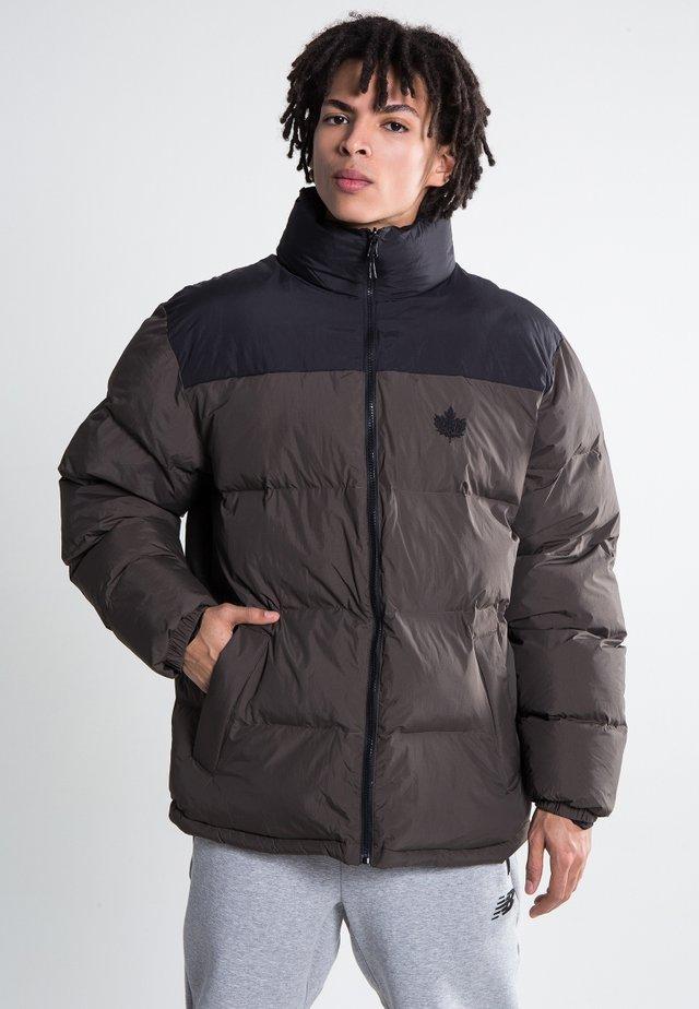 PA PUFF REVERSIBLE - Winter jacket - black/dark olive
