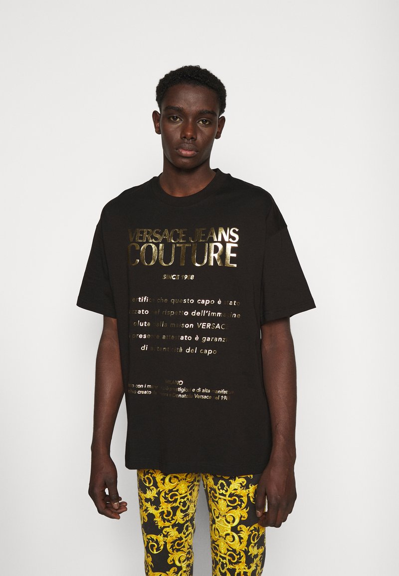 Versace Jeans Couture - MOUSE - T-shirt con stampa - black/gold