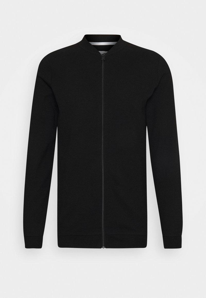 TOM TAILOR DENIM - Zip-up sweatshirt - black