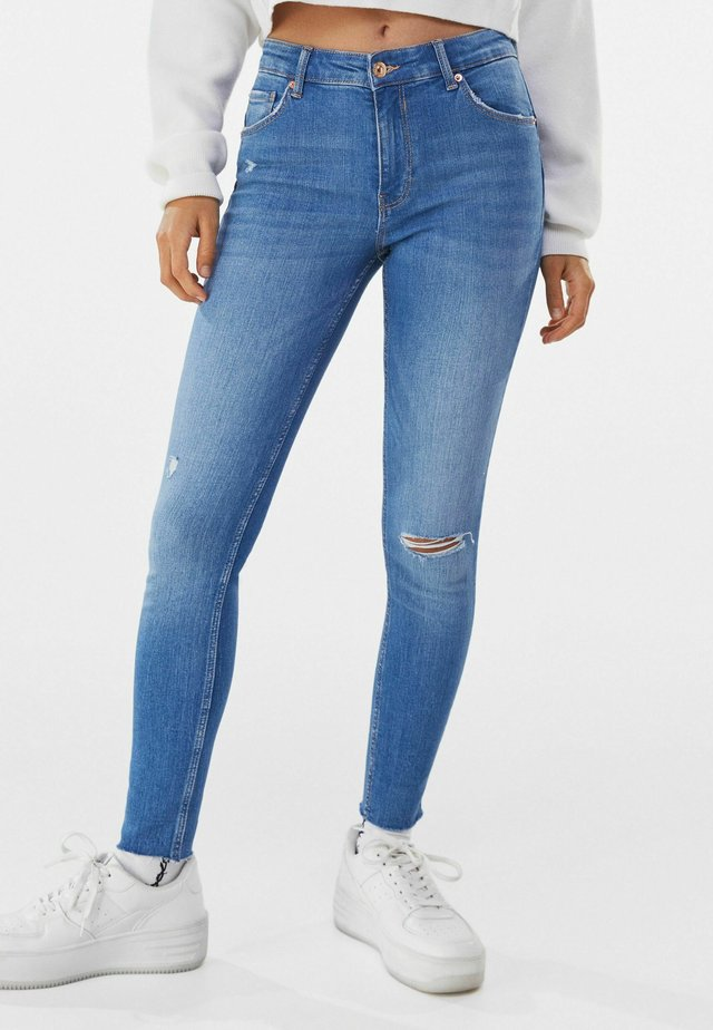 LOW WAIST PUSH UP - Jeans Skinny - blue
