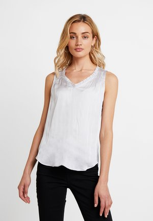 SHIRRING TIERED - Blouse - silver