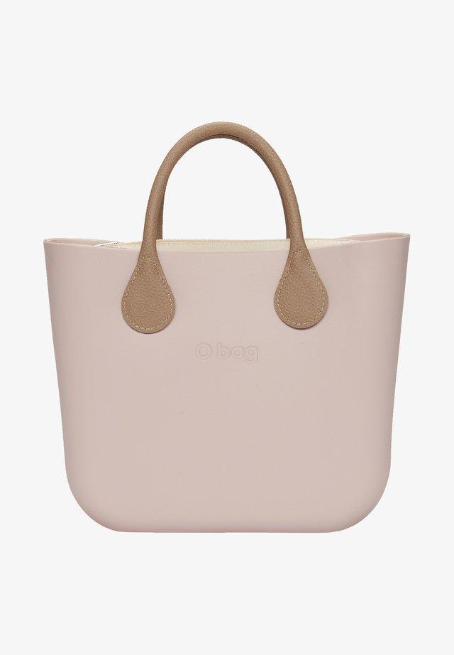 Shopping bag - rosa smoke/marrone