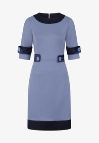 HotSquash - 60S DRESS WITH CONTRAST HEM - Day dress - woodblue and navy silky - 3