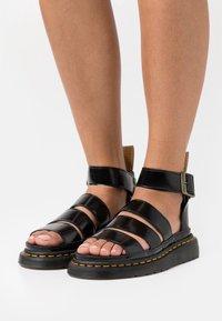 Dr. Martens - VEGAN CLARISSA  - Sandály na platformě - black oxford - 0