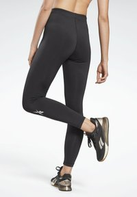 Reebok - MEET YOU THERE REECYCLED LEGGINGS - Collant - black - 2