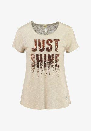 SPARKLE - Print T-shirt - sand