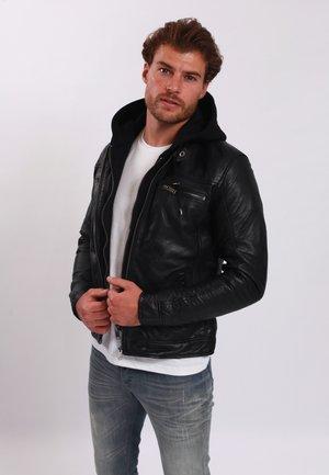 BERNEZ - Leather jacket - black
