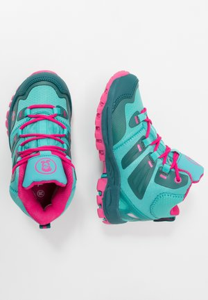 KIDS RONDANE HIKER MID - Hiking shoes - smaragd/rubine