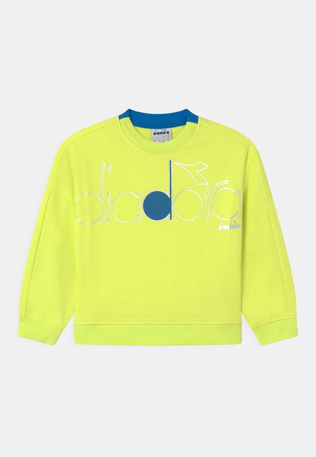 CREW LOGO MANIA UNISEX - Sweatshirt - green sunny lime
