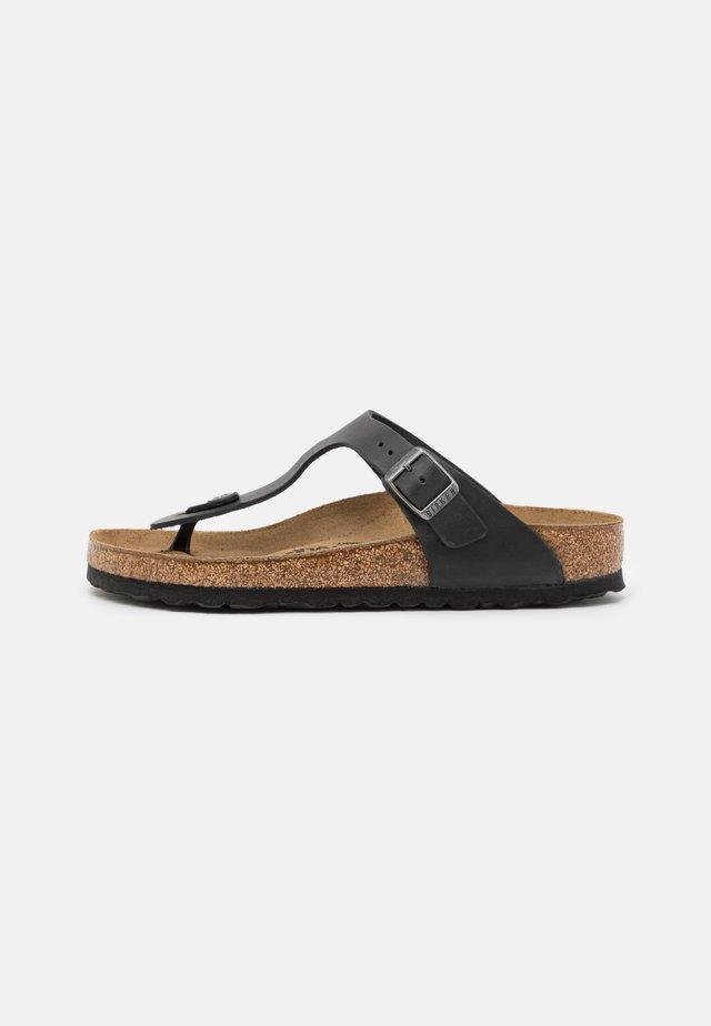 GIZEH UNISEX - Sandály s odděleným palcem - black