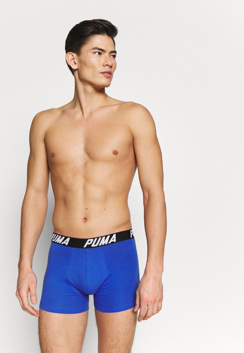 Puma - SPACEDYE STRIPE BOXER 2 PACK - Onderbroeken - blue/orange