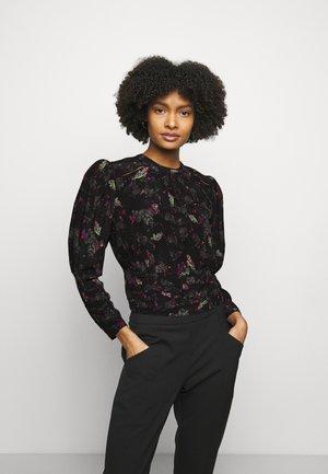 LORELLI - Long sleeved top - black/multico