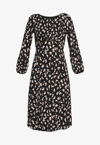 Wallis - SHADOW FLORAL MONO MIDI DRESS - Sukienka letnia - black - 4