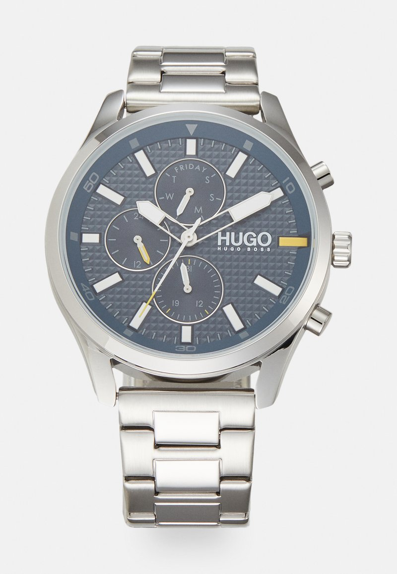 HUGO - CHASE - Hodinky - silver-coloured