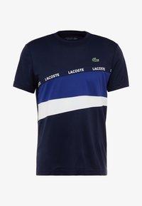 Lacoste Sport - TENNIS - T-Shirt print - navy blue/ocean/white - 4