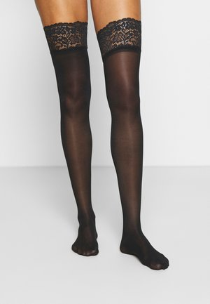 SUSTAINABLE - Calcetines por encima de la rodilla - black