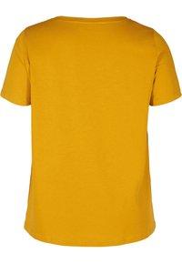 Zizzi - MIT A-LINIE - Print T-shirt - yellow - 4