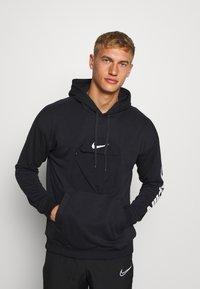 Nike Performance - HOODIE - Luvtröja - black/white - 0
