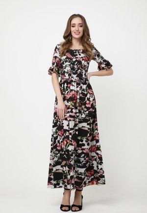 Maxi dress - weiß/schwarz