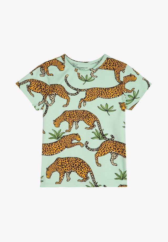 LEOPARD - T-shirt imprimé - green mist