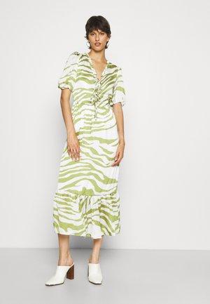ZEBRA MIDI DRESS - Maxi dress - green