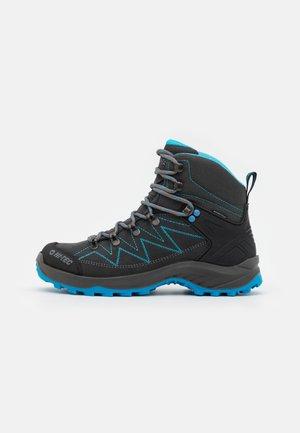 SPORTHIKE MID WP WOMENS - Hiking shoes - charcoal/blue